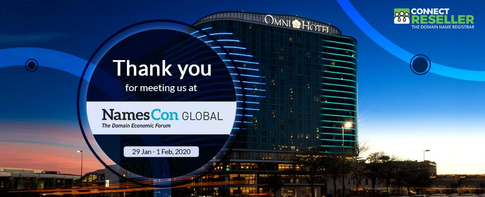 ConnectReseller attends namescon global 2020 blog banner image